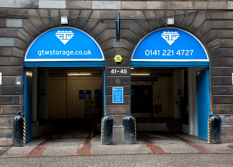 A photo of GTW Storage's loading bays