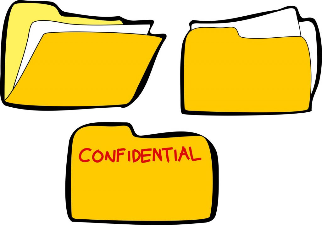 A graphic image representing confidential files